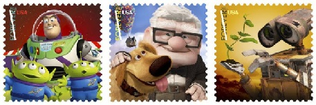 timbre pixar us postal usa etats unis aout