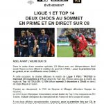 La Ligue 1 et le Top 14 sur C8 ?