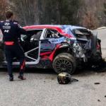 La Sortie de Route au Monte Carlo du Champion du Monde des Rallyes